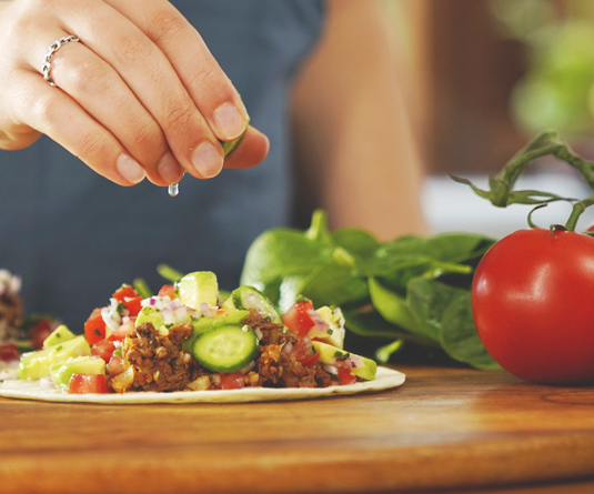 Savoury Mince Tacos with Salsa
